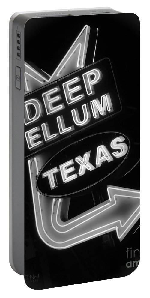 Deep Ellum Portable Battery Charger featuring the photograph Deep Ellum Black And White by Robert ONeil