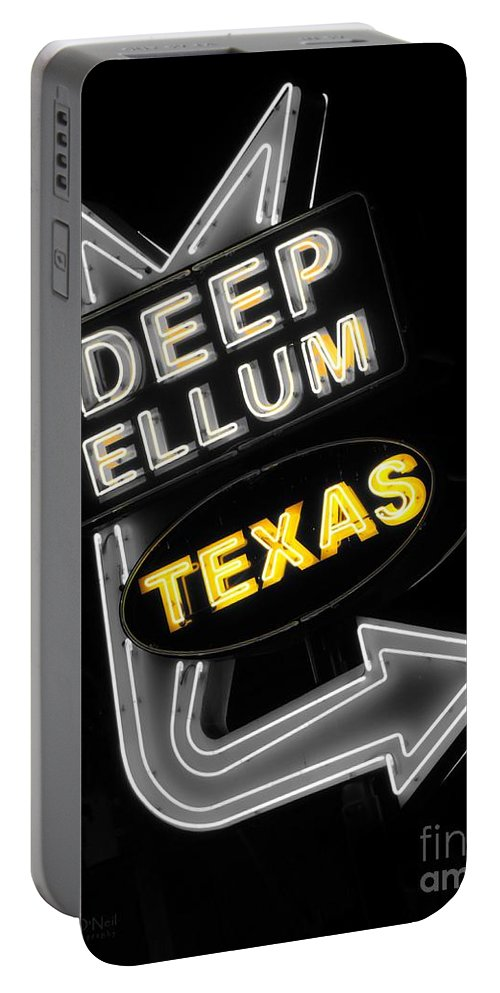 Deep Ellum Portable Battery Charger featuring the photograph Deep Ellum In Yellow by Robert ONeil