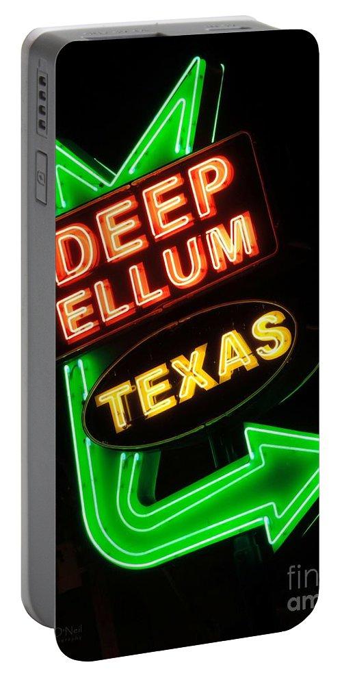 Deep Ellum Portable Battery Charger featuring the photograph Deep Ellum by Robert ONeil