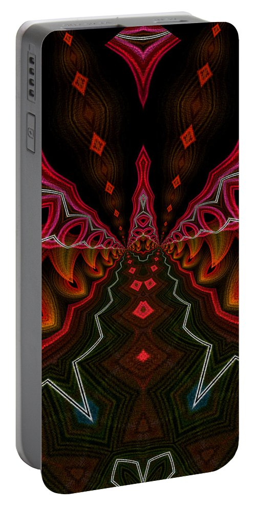 Series Echo Portable Battery Charger featuring the digital art Deep In Thought by Owlspook