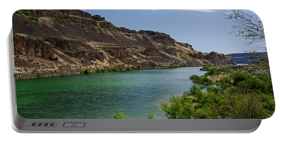 Deep Lake Portable Battery Charger featuring the photograph Deep Lake - Washington State by Yefim Bam
