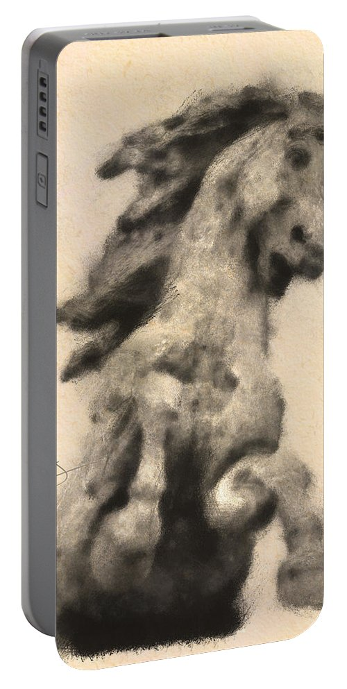 Horse Portable Battery Charger featuring the digital art Defense by Greg Collins