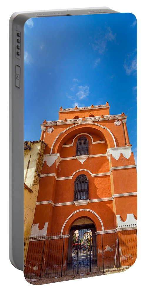 San Cristobal Portable Battery Charger featuring the photograph Del Carmen Arch by Jess Kraft