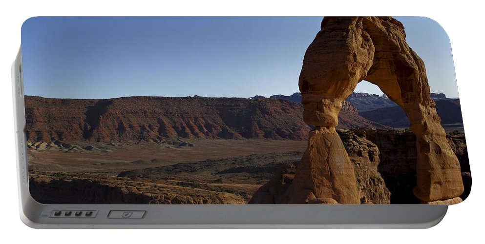 Delicate Arch Portable Battery Charger featuring the photograph Delicate Arch by Brian Kamprath