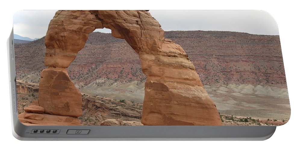 Arch Portable Battery Charger featuring the photograph Delicate Arch Landscape by Christiane Schulze Art And Photography