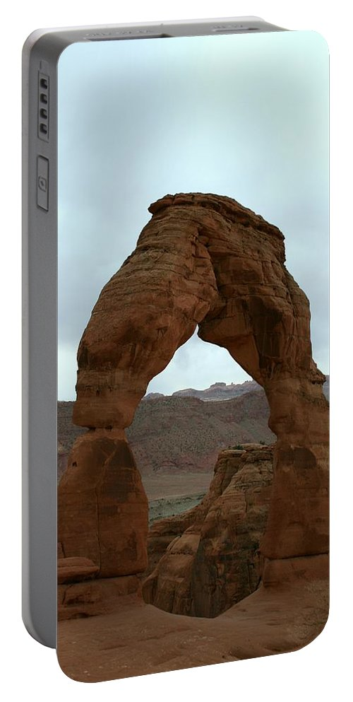 Arch Portable Battery Charger featuring the photograph Delicate Arch View by Christiane Schulze Art And Photography