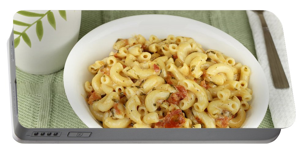 Food Portable Battery Charger featuring the photograph Delicious Macaroni Lunch by Lee Serenethos