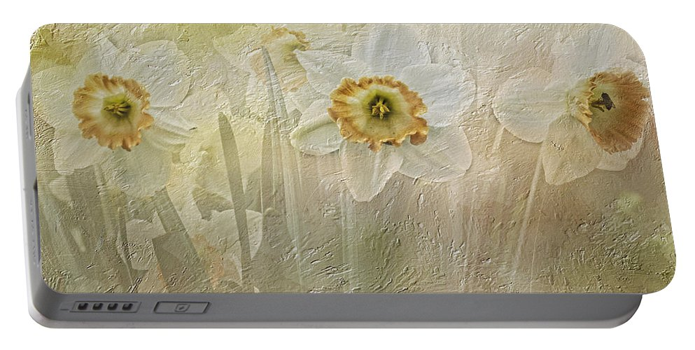 Daffodils Portable Battery Charger featuring the photograph Delightful Daffodils by Diane Schuster