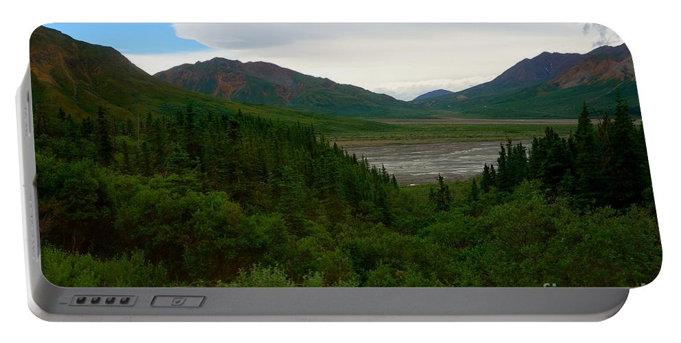 Denali National Park Portable Battery Charger featuring the photograph Denali National Park 2 by Jacqueline Athmann