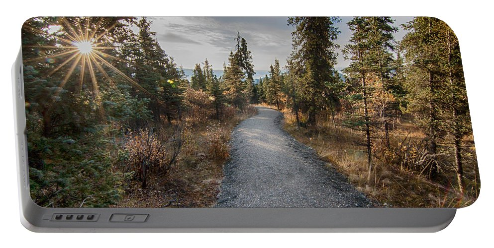 Denali Portable Battery Charger featuring the photograph Denali Path by Lauri Novak