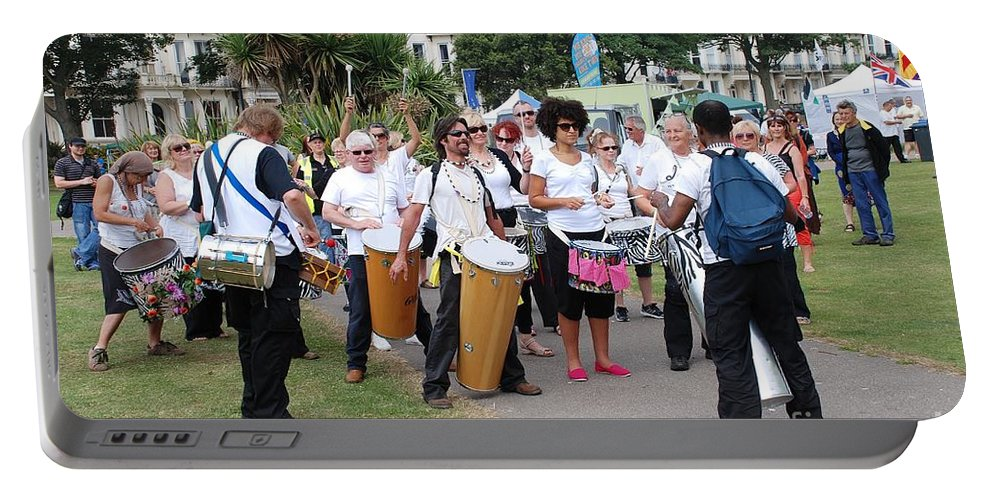 Dende Portable Battery Charger featuring the photograph Dende Nation Samba Drum Troupe by David Fowler