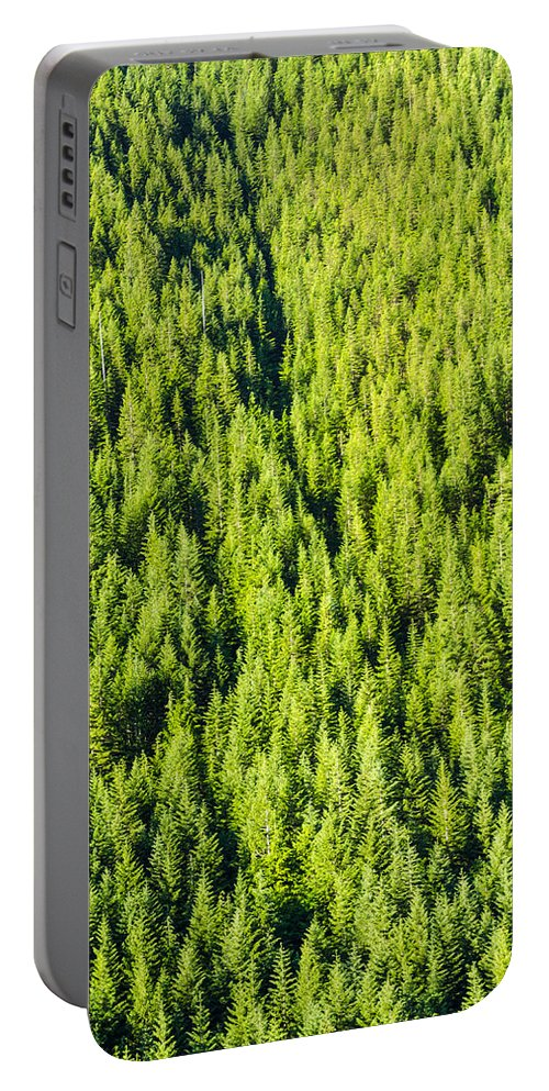 Forest Portable Battery Charger featuring the photograph Dense Forest by Jess Kraft