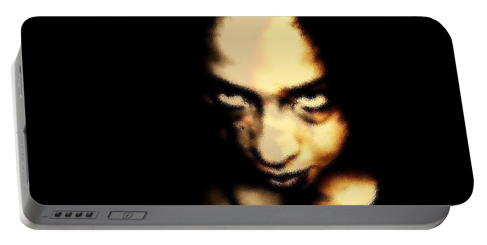 Black Portable Battery Charger featuring the photograph Deranged by Jessica Shelton