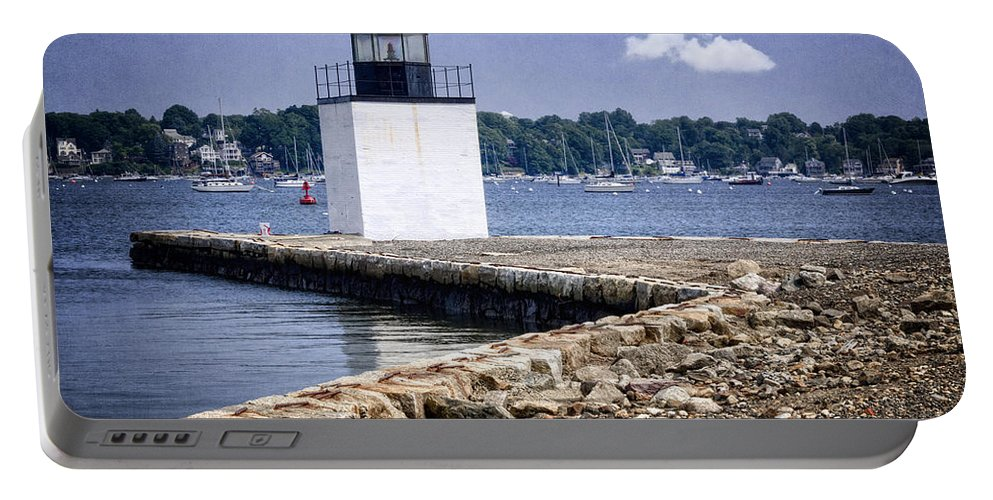 Derby Portable Battery Charger featuring the photograph Derby Wharf Light by Joan Carroll