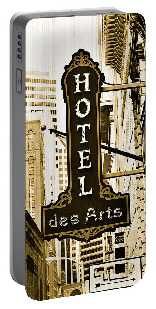 Streets Of San Francisco Portable Battery Charger featuring the photograph Art Hotel by Digital Kulprits