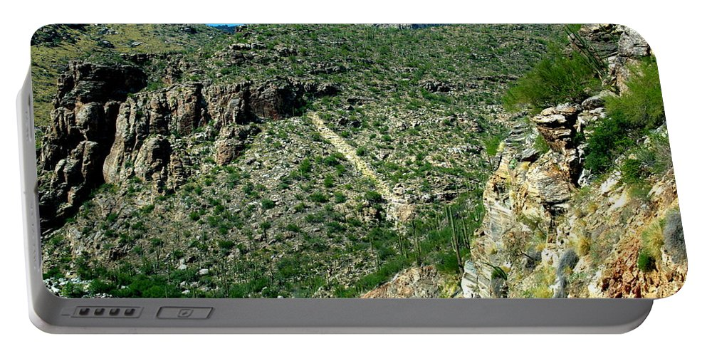Arizona Portable Battery Charger featuring the photograph Descending by Darrell Clakley