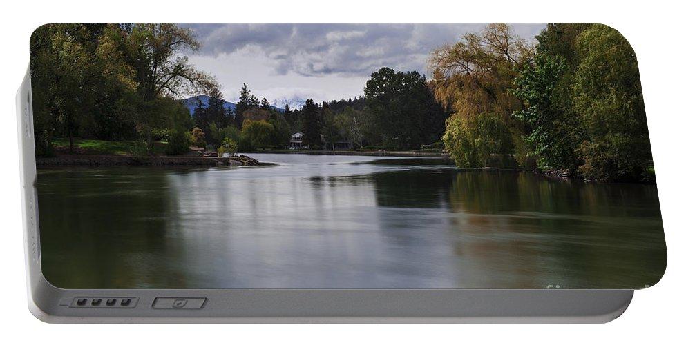 Deschutes River Portable Battery Charger featuring the photograph Deschutes River - Oregon by Yefim Bam