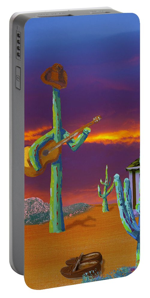 Painting Portable Battery Charger featuring the painting Desert Jam by Greg Wells