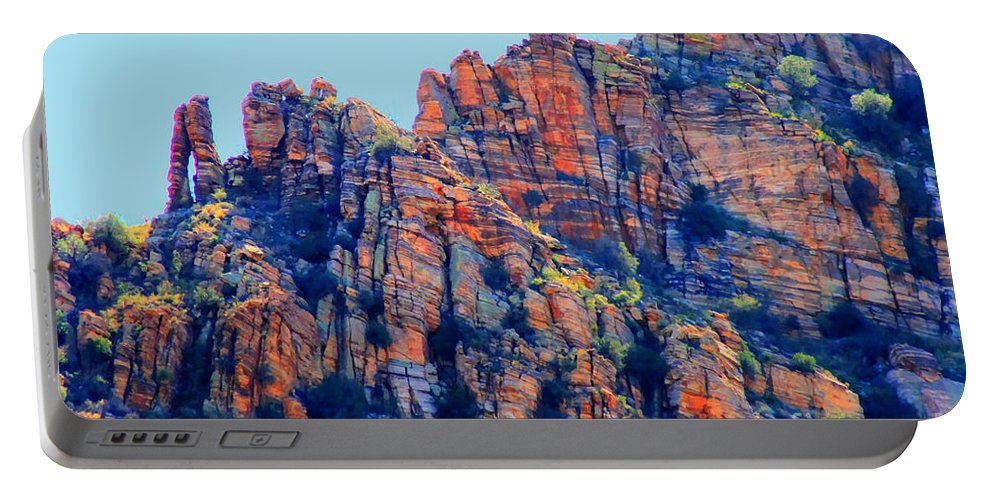 Sabino Canyon Portable Battery Charger featuring the photograph Desert Paint by Tap On Photo