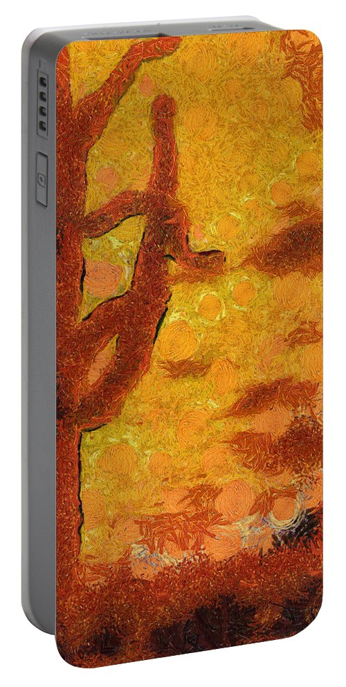 Cactus Portable Battery Charger featuring the photograph Desert Sunset Photo Art 04 by Thomas Woolworth