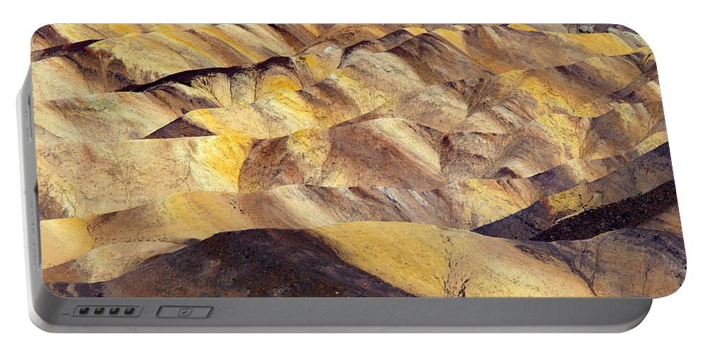 Zabriskie Point Portable Battery Charger featuring the photograph Desert Undulations by Mike Dawson