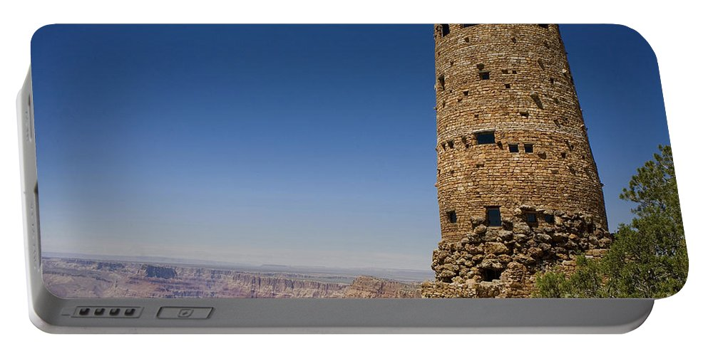 Desert View Watchtower Portable Battery Charger featuring the photograph Desert Watchview Tower Grand Canyon by Jason O Watson