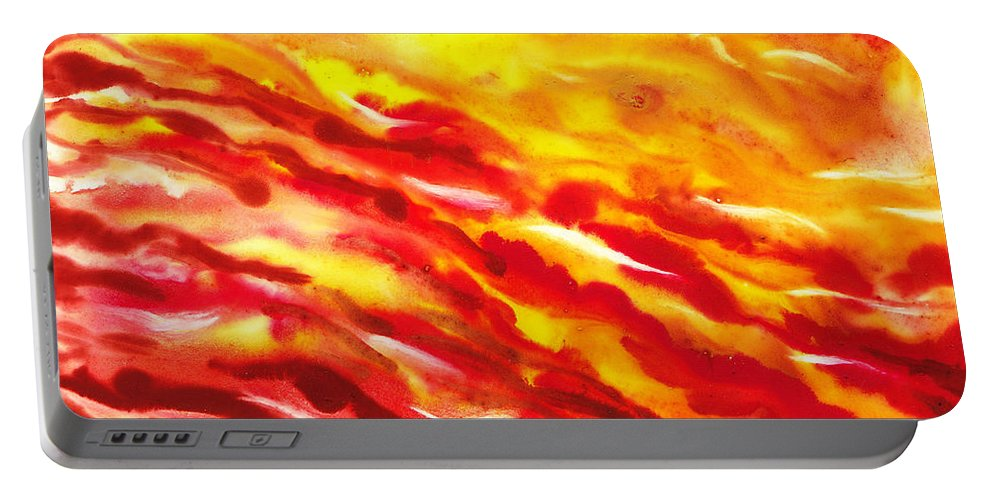 Abstract Portable Battery Charger featuring the painting Desert Wind Abstract I by Irina Sztukowski