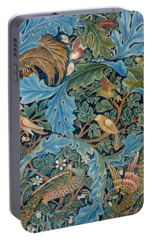 William Morris Portable Battery Charger featuring the painting Design For Tapestry by William Morris