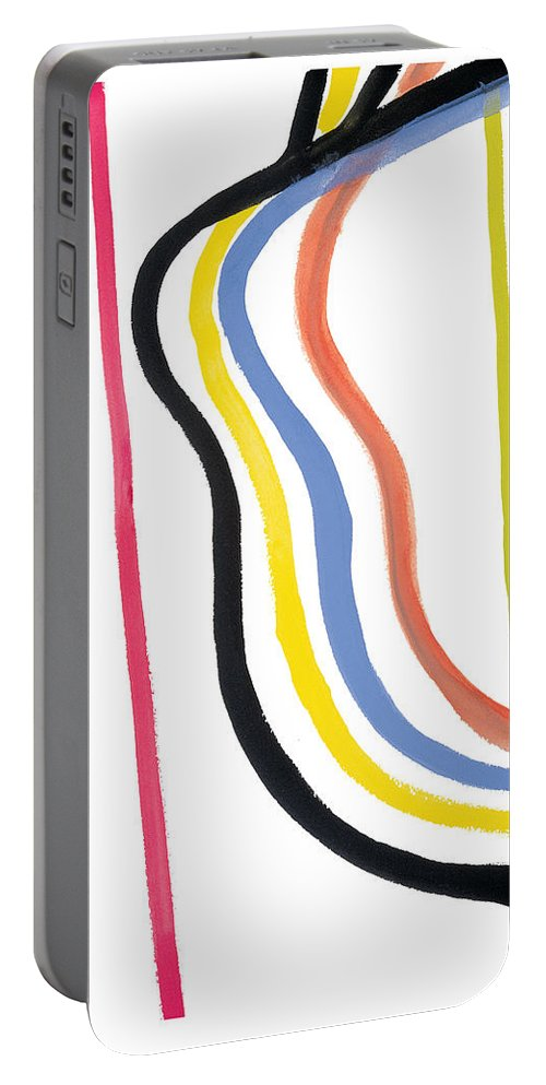 Abstract Portable Battery Charger featuring the painting Destiny by Bjorn Sjogren