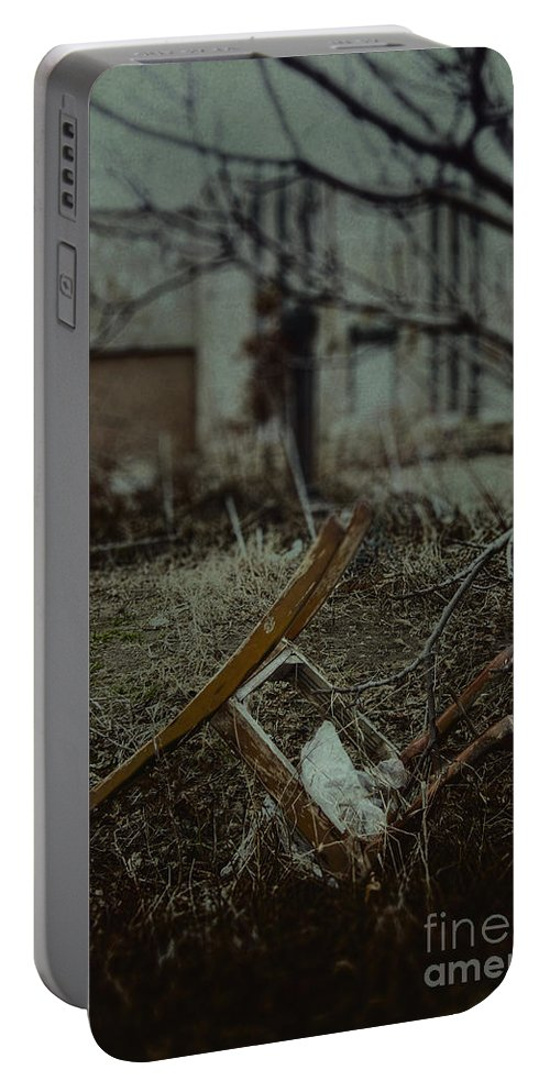 Chair Portable Battery Charger featuring the photograph Destruction by Margie Hurwich