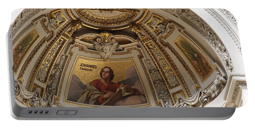 Cathedral Portable Battery Charger featuring the photograph Detail Berliner Dom by Christiane Schulze Art And Photography