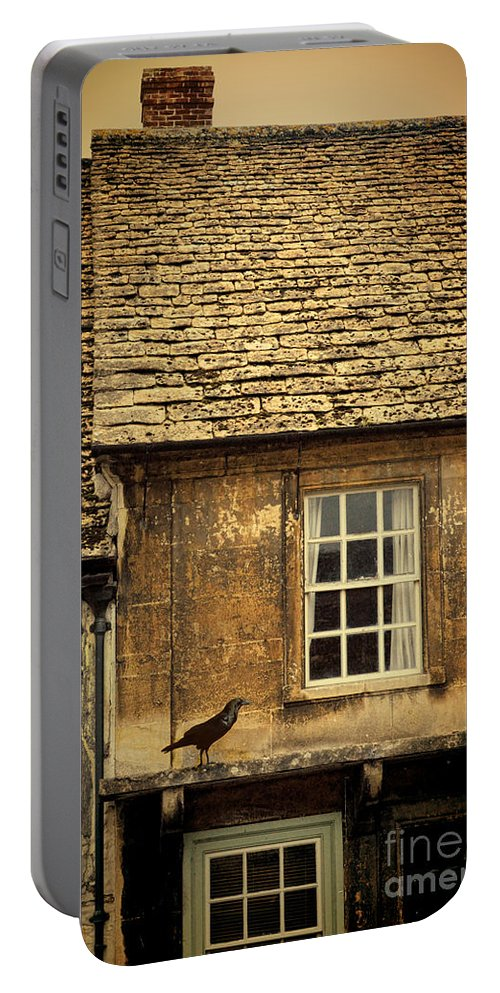 Bird Portable Battery Charger featuring the photograph Detail Of Old House by Jill Battaglia