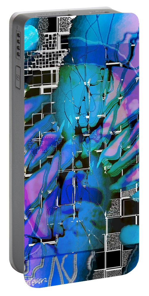 Deuteronomy Portable Battery Charger featuring the digital art Deuteronomy by Seth Weaver