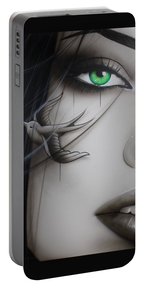Portrait Portable Battery Charger featuring the painting Deviant II by Christian Chapman Art