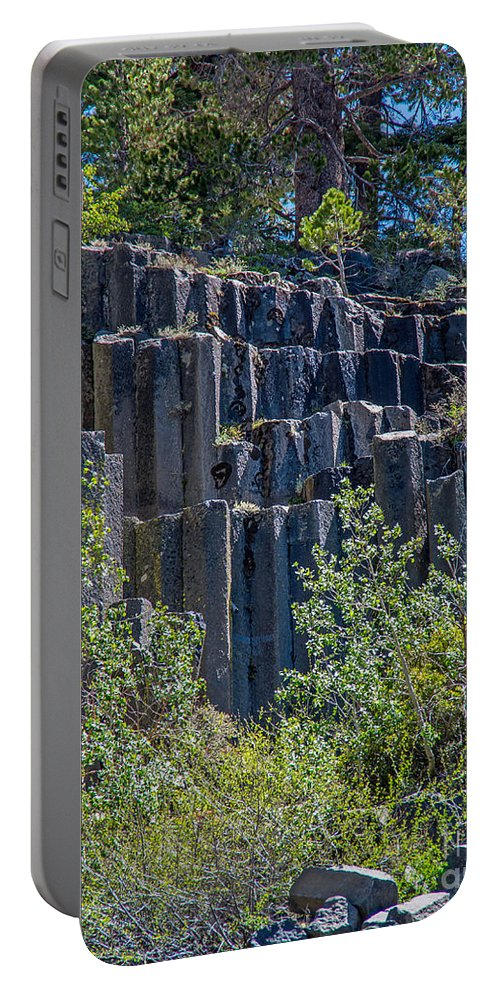 Devils Postpile Portable Battery Charger featuring the photograph Devils Postpile by Stephen Whalen