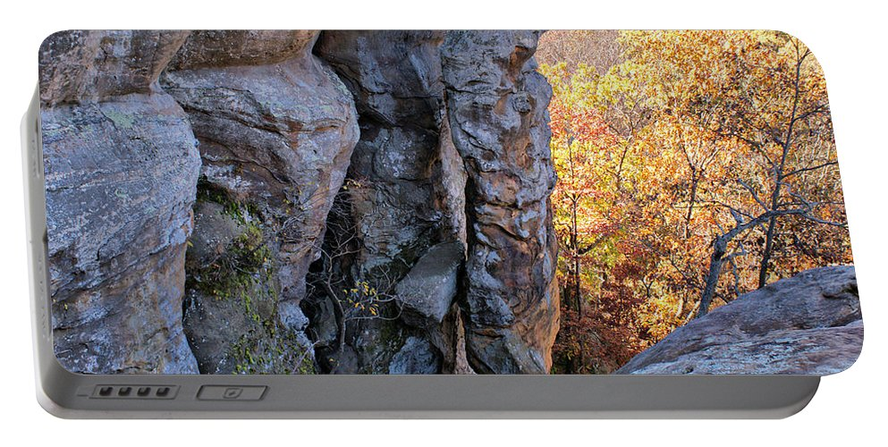Devil's Smokestack Portable Battery Charger featuring the photograph Devil's Smokestack 2 by Sandy Keeton
