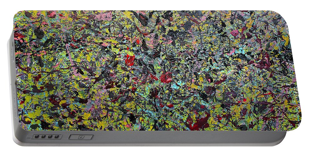 Abstract Portable Battery Charger featuring the painting Devisolum by Ryan Demaree