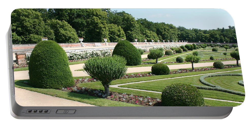 Garden Portable Battery Charger featuring the photograph Diane De Poitiers' Gardens by Christiane Schulze Art And Photography