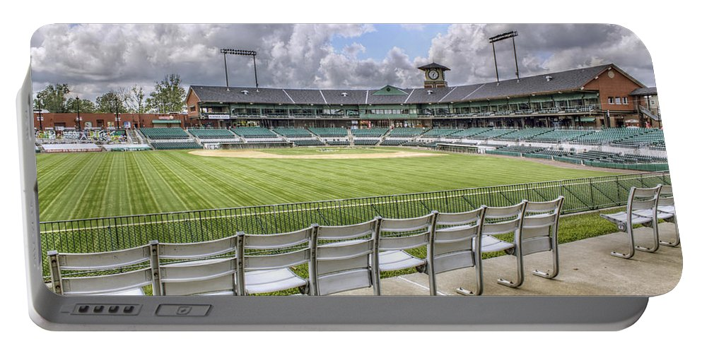 Baseball Portable Battery Charger featuring the photograph Dickey-stephens Park by Jason Politte
