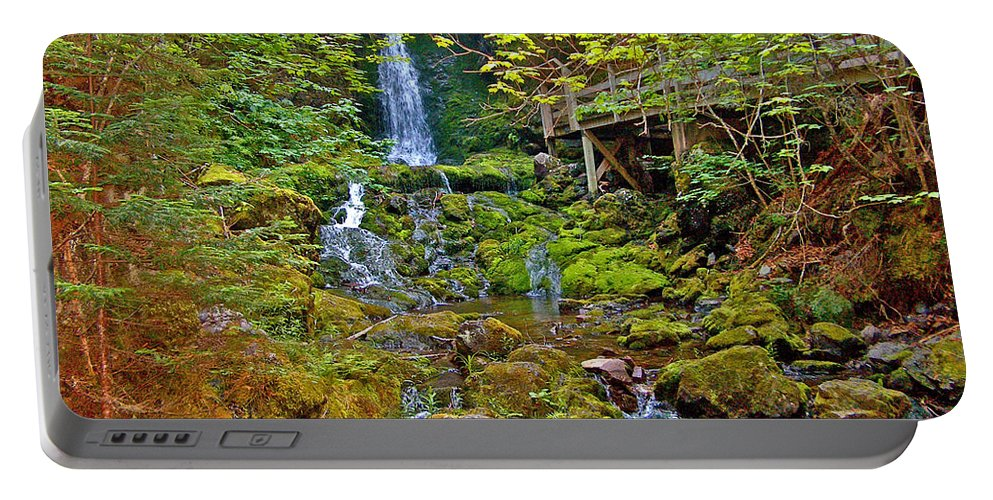 Dickson Falls In Fundy Np Portable Battery Charger featuring the photograph Dickson Falls In Fundy Np-nb by Ruth Hager