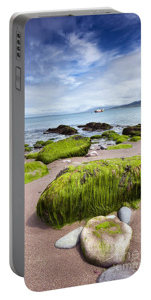 Coast Portable Battery Charger featuring the photograph Dingle Coastline by David Lichtneker