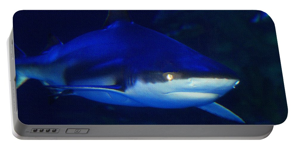 Dinner With The Sharks Portable Battery Charger featuring the photograph Dinner With The Sharks by Tom Janca