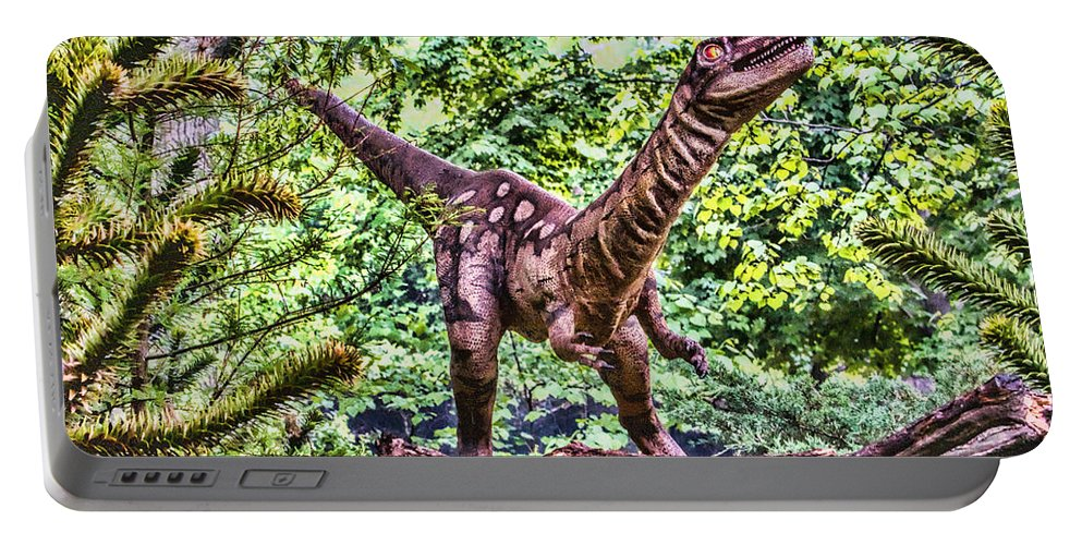 Dinosaurs Portable Battery Charger featuring the photograph Dino In The Bronx One by Alice Gipson