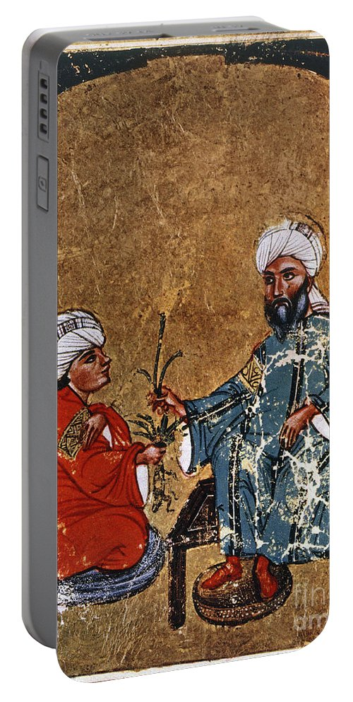 1229 Portable Battery Charger featuring the photograph Dioscorides And Student by Granger