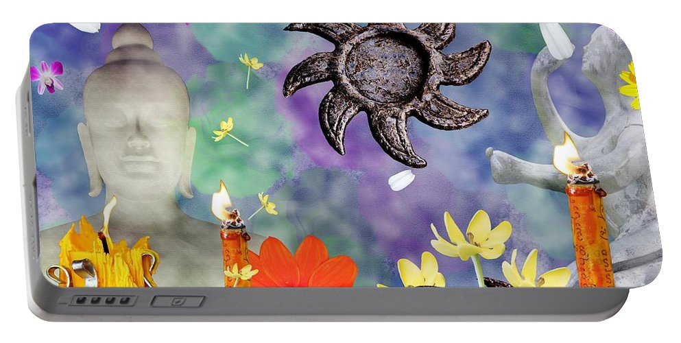 Buddha Portable Battery Charger featuring the photograph Disconsortium by Nola Lee Kelsey
