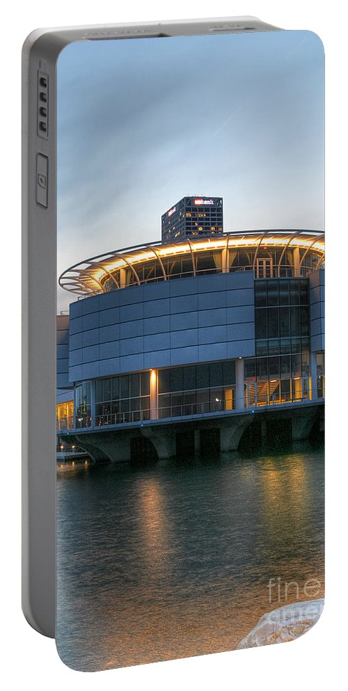 Architecture Portable Battery Charger featuring the photograph Discovery World by Andrew Slater