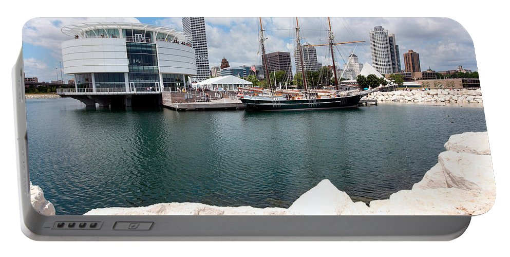 Discovery World Portable Battery Charger featuring the photograph Discovery World Milwaukee Wisconsin by Bill Cobb