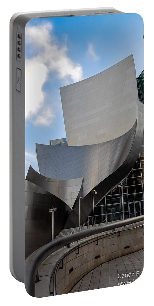 California Portable Battery Charger featuring the photograph Disney Hall by Gandz Photography