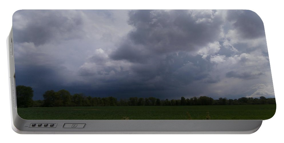 Rain Portable Battery Charger featuring the photograph Distant Storm by Dan McCafferty