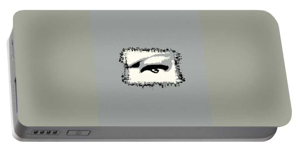 Eye Portable Battery Charger featuring the painting Distorted Vision by Frances Lewis